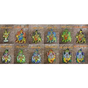 インドの神様キーホルダー!ガネーシャ/ハヌマン/クリシュナ/ドゥルガー