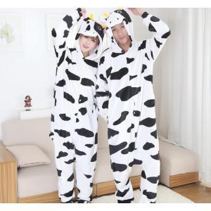 牛 着ぐるみ メンズ うし コスプレ かわいい ウシ 着ぐるみパジャマ 大人 動物 パジャマ レディ...