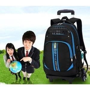 トロリーバッグ 3輪キャスター付き 新作  リュックサック 高校生 大学生 中学生 大容量  入学式 学生用 入学祝い 新入学  多機能の画像