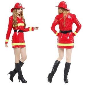 大人用 女性用 ハロウィン衣装  消防士 しょうぼうし ハロウィン 衣装 仮装 コスプレ衣装 レディ...