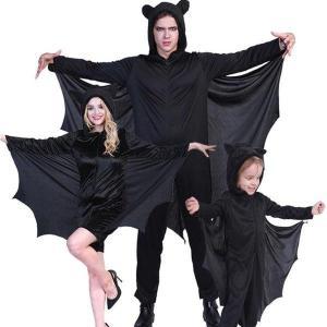 ハロウィン衣装 カップル 大人用 女性用 男性用  メンズ 子供用  吸血鬼 コウモリ コスプレ衣装...