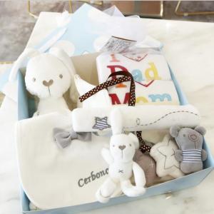 出産祝い オーガニックコットン 7点 ギフトセット おもちゃ ぬいぐるみ スタイ プレゼント 出産祝...