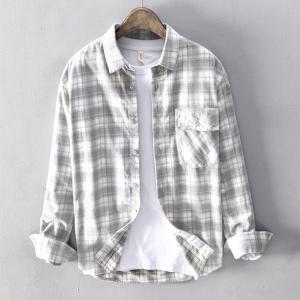 コーデュロイシャツ メンズ 長袖 チェック柄 コール天 アメカジ 秋物 羽織り カジュアル ワークシャツの画像