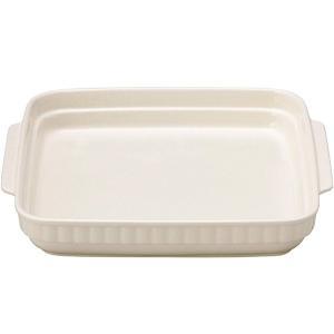ホワイトスタッキング  正角グラタン(大)   28.5×26×4.5cm   耐熱陶製皿 万古焼 ...