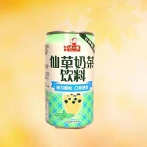 仙草乃茶飲料 仙草ゼリーミルクティー 台湾産人気飲料 315ml 中華ドリンク