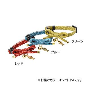 Cat Amo.k 猫首輪 サカナ泥棒 S-RED 810026-0|happyness