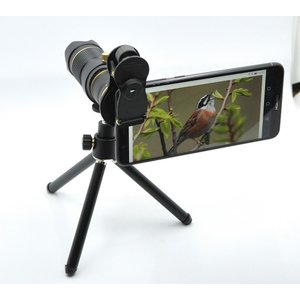 望遠レンズ スマホ望遠レンズ 15倍 リモコンシャッター付き 暗角 ケラレなし  高画質 クリップ式 iphone android Casllee|happyness