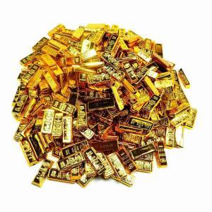 金の延べ棒 ゴールドバー レプリカ 金塊 おもしろ ゴールド 約365個 2種アソート 金塊レプリカ ディスプレイ 景品 HB-182 qq宅配便のみpp