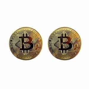 ビットコイン メダル レプリカ 2個セット Bitcoin ゴールド HB-512 仮想通貨 おもし...