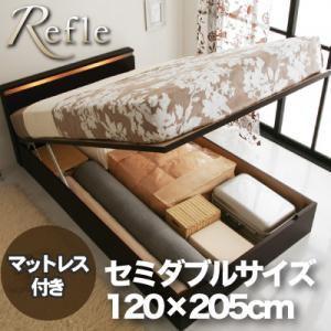 ガス圧式リフトアップ収納ベッド【Refle】リフレ セミダブル|happyplus
