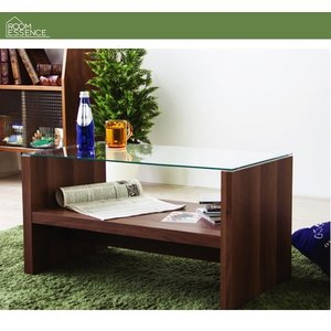リビングテーブル おしゃれ ガラス カフェテーブル|happyrepo