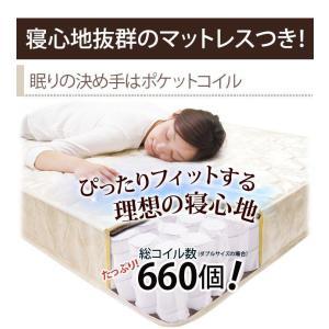 セミダブルベッド マットレス付き 収納付き頑丈ベッド ポケットコイル|happyrepo|14