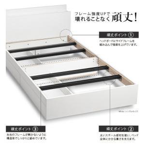 セミダブルベッド マットレス付き 収納付き頑丈ベッド ポケットコイル|happyrepo|10
