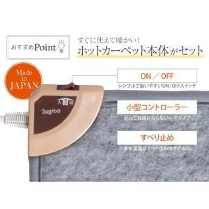 キッチン用ホットカーペット 本体+ホットカーペットカバー 45×120cm 木目調ホットキッチンマット 日本製 happyrepo 08
