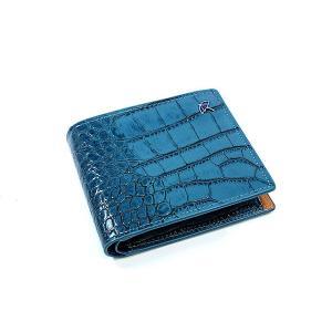 財布/メンズ/二つ折り財布/財布サイフさいふ/メンズ/ブルー|happyrepo