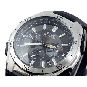カシオ CASIO ウェーブセプター WAVE CEPTOR 電波 ソーラー 腕時計 WVQ-M410-1AJF ブラック