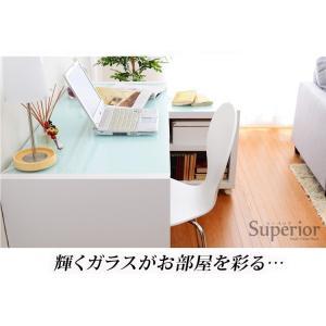 ガラスデスク3点セット(パソコンデスク・書斎机・幅120)|happyrepo|19