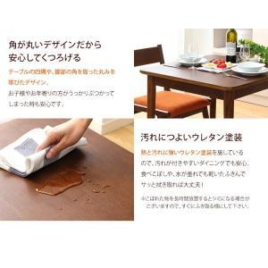 ダイニングテーブルセット 2人掛け おしゃれ 3点セット(テーブル+チェア2脚) 木製アッシュ材|happyrepo|05