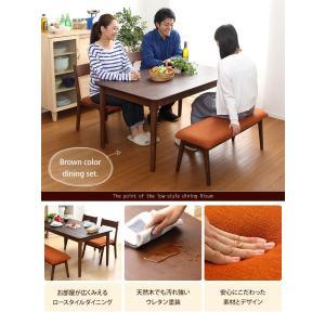 ダイニングテーブルセット 2人掛け おしゃれ 4点セット(テーブル+チェア2脚+ベンチ) 木製アッシュ材 happyrepo 03