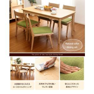 ダイニングテーブルセット 4人掛け おしゃれ 5点セット(テーブル+チェア4脚) 木製アッシュ材|happyrepo|03