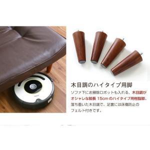 ハイバックソファー 2人掛け おしゃれ PVCレザー ポケットコイル使用 3段階リクライニング 日本製|happyrepo|11