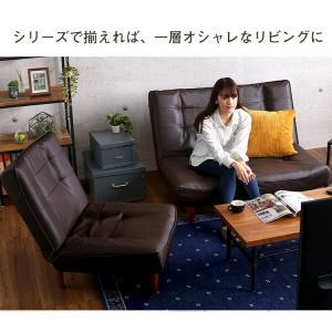 ハイバックソファー 2人掛け おしゃれ PVCレザー ポケットコイル使用 3段階リクライニング 日本製|happyrepo|13