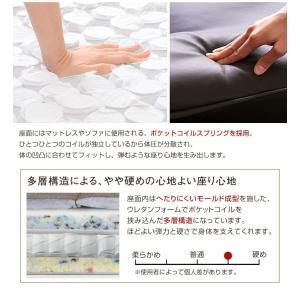 ハイバックソファー 2人掛け おしゃれ PVCレザー ポケットコイル使用 3段階リクライニング 日本製|happyrepo|07