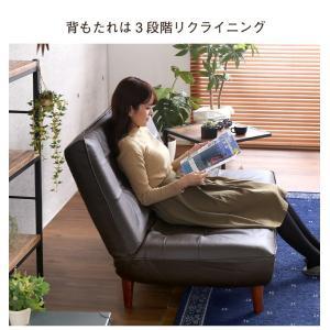 ハイバックソファー 2人掛け おしゃれ PVCレザー ポケットコイル使用 3段階リクライニング 日本製|happyrepo|08