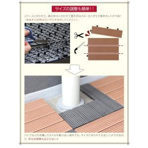 敷き詰めるだけで簡単ウッドデッキに ジョイント式ウッドパネル (10枚セット)|happyrepo|06