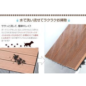 敷き詰めるだけで簡単ウッドデッキに ジョイント式ウッドパネル (10枚セット)|happyrepo|07