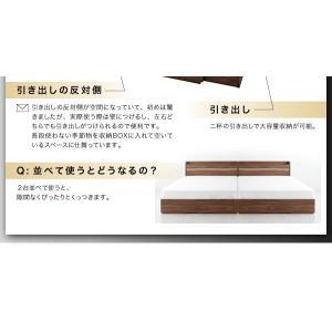 ライト・ヘッドボード収納付きベッド ポケットコイルマットレス付き:ハード ダブル|happyrepo|15