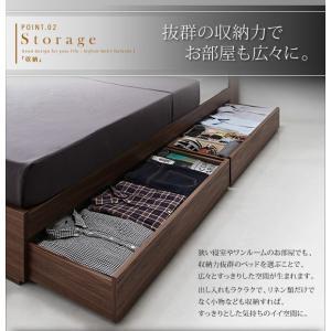 ライト・ヘッドボード収納付きベッド ポケットコイルマットレス付き:ハード ダブル|happyrepo|07