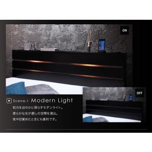 シングルベッド 照明・コンセント付き収納ベッド ボンネルコイルマットレス付き(レギュラー) シングル happyrepo 05