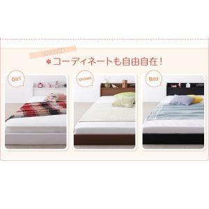 親子で寝られる棚・照明付き連結ベッド セミシングル フレームのみ|happyrepo|10