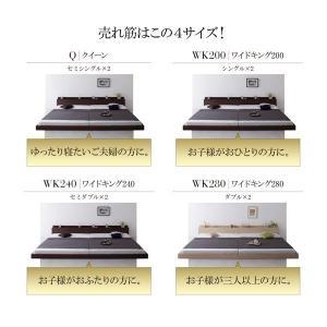 ローベッド ワイドK200 マットレス付き プレミアムポケットコイル スーパーワイドキングサイズ 大型モダンベッド|happyrepo|06