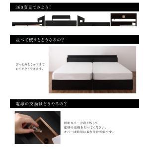 シングルベッド マットレス付き スタンダードボンネルコイル モダンライト・コンセント付き収納付きベッド シングル happyrepo 13