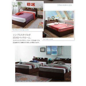 収納ベッド セミダブル マットレス付き スタンダードポケットコイル 棚・コンセント付きベッド 床板仕様 happyrepo 17