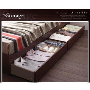 収納ベッド ダブル マットレス付き プレミアムポケットコイル 棚・コンセント付きベッド 床板仕様|happyrepo|12