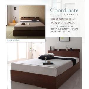 収納ベッド ダブル マットレス付き プレミアムポケットコイル 棚・コンセント付きベッド 床板仕様|happyrepo|16
