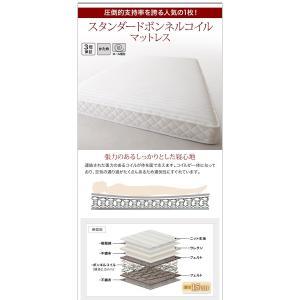 収納ベッド ダブル マットレス付き スタンダードボンネルコイル 棚・コンセント付きベッド すのこ仕様|happyrepo|19
