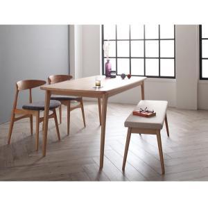 ダイニングテーブルセット 4人掛け おしゃれ 4点セット(テーブル150+チェア2脚+ベンチ) 北欧|happyrepo|14