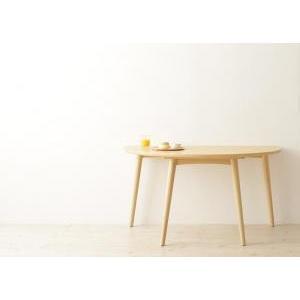 ダイニングテーブル おしゃれ W130 天然木半円テーブル|happyrepo