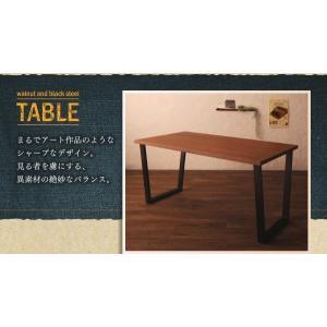 ダイニングテーブルセット 4人掛け おしゃれ 5点セット(テーブル150+チェア4脚) 天然木ウォールナット ヴィンテージ カフェ風ダイニング|happyrepo|10