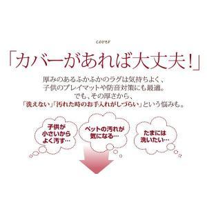 ラグカバー(ラグ別売) タオル地カバー 190×190|happyrepo|02