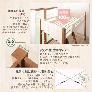 システムベッド 固綿マットレス付き デスク付 宮棚・コンセント付 天然木パイン材収納システムベッド シングル|happyrepo|14