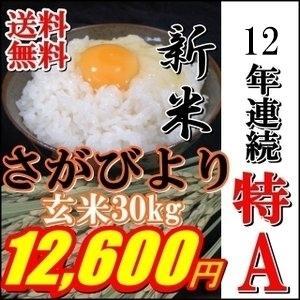 新米28年産絶品特A★玄米30kg九州佐賀県一等米さがびより...