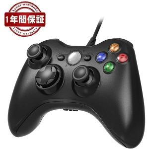 XBOX360 コントローラー Blitzl PC コントローラー 有線 ゲームパッド ケーブル W...