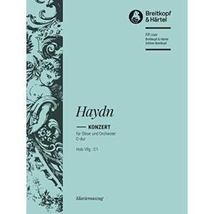 ハイドン : 協奏曲 ハ長調 コンチェルト (オーボエ、ピアノ) ブライトコプフ出版 happysmile777