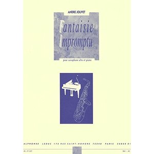 ジョリベ : 幻想即興曲 (サクソフォン、ピアノ) ルデュック出版 happysmile777