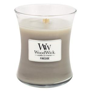 WoodWick 1-Piece Fireside Medium Jar Candle Grey by Woodwick happysmile777